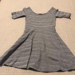 Aritzia grey skater dress